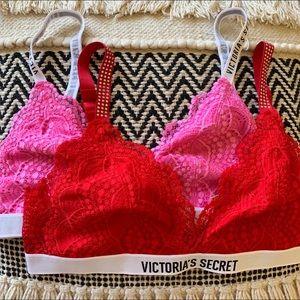 NWT Victoria Secret Bralette Bundle Size Large